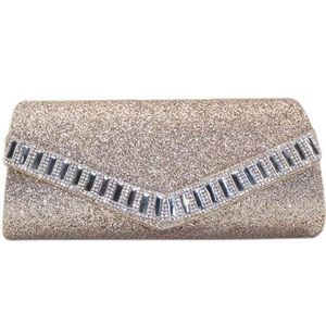 Handbags - Sparkly Glass-lined crossbody Clutch